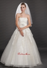 Two Tier Tulle With Ribbon Edge Wedding Veil UNION29T04FOR