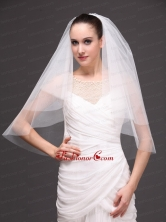 White Tulle Wedding Veil With Two Tier HM8234FOR