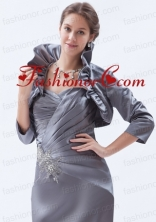 Fold Over Collar Jacket in Grey ACCJA050FOR