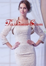 2014 Champagne Long Sleeves Jacket With Lace ACCJA049FOR
