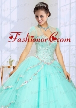 2014 Fashionable Beading Tulle Quinceanera Jacket in Mint ACCJA107FOR