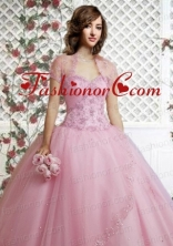 Beautiful Appliques and Beading Light Pink Special Occasion Quinceanera Jacket ACCJA097FOR