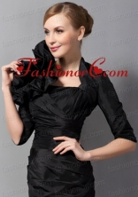 Beautiful Hand Made Flowers Jacket in Black ACCJA013FOR