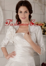 Beautiful Hand Made Flowers Jacket in White ACCJA014FOR