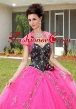 Best Selling Appliques and Sequins Bolero Quinceanera Jackets in Pink ACCJA068FOR