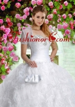 Brand New White Special Occasion Quinceanera Jacket with Beading ACCJA093FOR