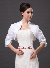 Custom Made White High-neck Jacket With  For Wedding AFEST235FOR