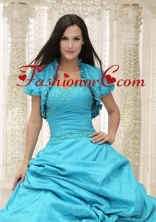 Elegant Teal Quinceanera Jacket Open Front For 2014 ACCJA039FOR
