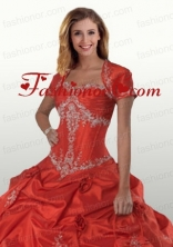 Exclusive Red Open Front Quinceanera Jacket With Appliques ACCJA028FOR