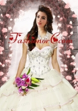 Exquisite Tulle Beading Special Occasion Quinceanera Jacket  in Ivory ACCJA083FOR