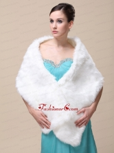 Faux Fur Special Occasion   Wedding Shawl On Sale RR091508FOR