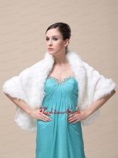 Faux Fur Special Occasion   Wedding Shawl With Open Front RR091505FOR
