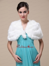 Faux Fur Wedding Special Occasion Shawl With Front Closure RR0915025FOR