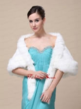 Faux Fur Wraps For Wedding Party and Other Occasion With Open Front RR09150 (54)FOR