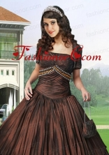 Gorgeous Special Occasion Quinceanera Jacket with Ruching and Embroidery ACCJA088FOR