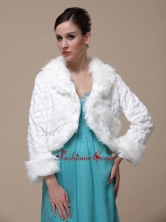Gorgeous and Long Sleeves For Special Occasion  Wedding Shawl Jacket RR0915024FOR