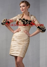Hand Made Flowers Jacket in Champagne ACCJA009FOR