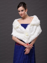 Hand Made Flowers V Neck Stylish Wraps Shawls RR0915038FOR
