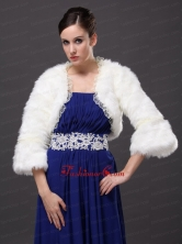 Lace Open Front White Stylish Jacket RR0915035FOR