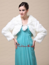 Low Price Rabbit Fur Special Jacket  In Ivory With High neck RR091501FOR