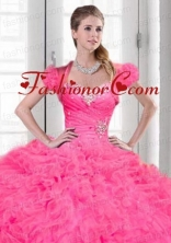 Luxurious Beading and Ruching Organza Quinceanera Jacket with Pink ACCJA122FOR