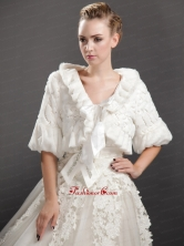Luxurious Fold over Collar Half Sleeves Jacket UNION29T010FOR