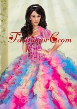 Luxurious Multi Lolor Organza Quinceanera Jacket with Appliques and Ruffles  ACCJA067FOR