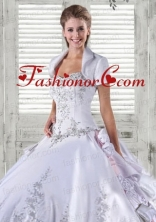 Luxurious Taffeta Quinceanera Jacket  Wedding in White ACCJA004FOR