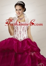 Modern Appliques White Quinceanera Jacket with Open Front ACCJA077FOR