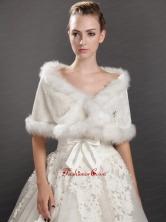 Modest Faux Fur V neck Wrap  Shawl UNION29T09FOR