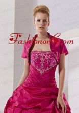 New Arrival Hot Pink Quinceanera Jacket with Open Front ACCJA027FOR