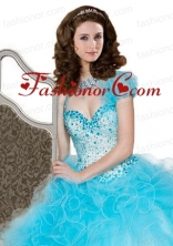 New StyleRuffles Baby Blue Special Occasion  Quinceanera Jacket ACCJA100FOR