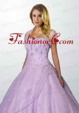 Popular Tulle Appliques and Beading Quinceanera Jacket in Lavender ACCJA116FOR