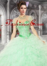 Pretty Organza with Beading and Ruffles Quinceanera Jacket ACCJA086FOR