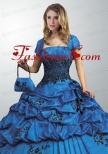 Remarkable Royal Blue Quinceanera Jacket On Sale with Open Front ACCJA045FOR