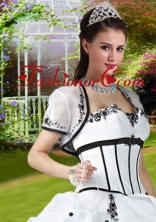 Romantic Appliques  White Special Occasion Quinceanera Jacket ACCJA094FOR