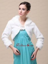 Romantic Fox Fringed Fur Special Jacket  In Ivory With High neck RR09150(13)FOR