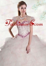 Romantic White Organza Quinceanera Jacket With Beading and Ruffles ACCJA120FOR
