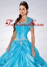 Sky Blue Brand New Organza Quinceanera Jacket With Appliques  ACCJA002FOR