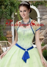The Super Hot Tulle Beading and Sequins Quinceanera Jacket in Light Green ACCJA069FOR