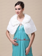 Top Selling High Quality Instock Special Occasion Wedding   Bridal  Shawl  With Fold over Collar RR091509FOR
