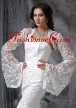 Unique Long Sleeves White Jacket With Lace ACCJA133FOR