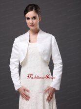 White Satin Jacket For Wedding and Other Occasion With Long Sleeves AFEWST229FOR