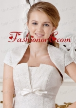White Short Sleeves Jacket For Formal Occasion ACCJA020FOR