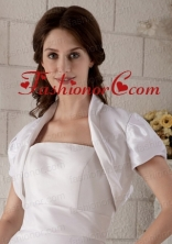 White Short Sleeves Jacket With Lace Up ACCJA015FOR