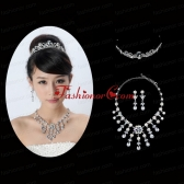 Beautiful Alloy With Rhinestone Ladies Jewelry Sets ACCJSET167FOR