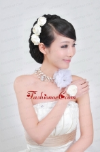 Dreamlike Ladies Pearl Necklaceand Headpiece Jewelry Set ACCJSET066FOR