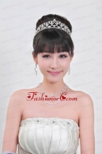 Elegant Alloy With Rhinestone Ladies Necklace and Tiara ACCJSET089FOR