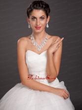 Elegant Leaf Crystal Necklace And Earring Set JDZH079FOR