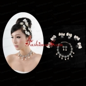 Elegant Pearl Necklace And Earrings Wedding Jewelry Set ACCJSET208FOR